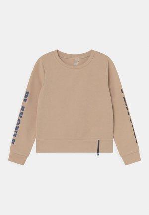 JELLY O-NECK ZIP GIRLS - Sweater - beige