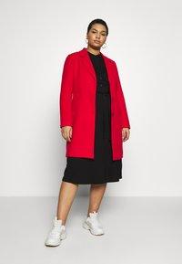 Dorothy Perkins Curve - GRANDAD COLLAR DRESS - Jersey dress - black - 2