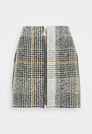 GONNA SKIRT - Mini skirt - black/white