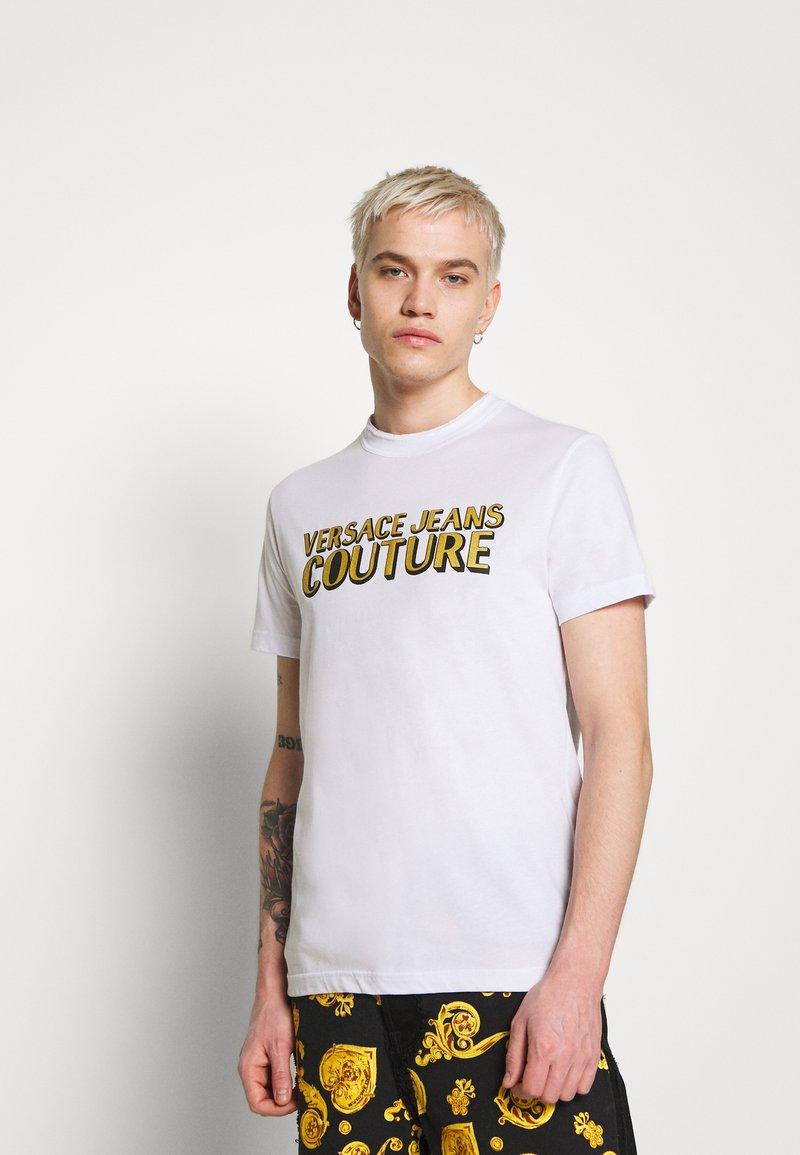 Versace Jeans Couture - LOGO - T-shirt z nadrukiem - white