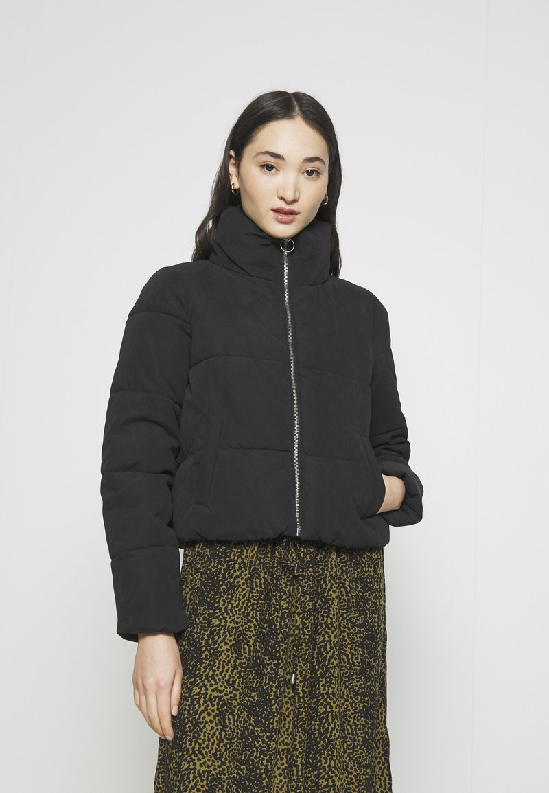 ONLY - ONLDINA SHORT QUILTED PUFFER - Winter jacket - black