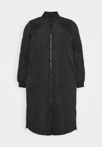 ONLY Carmakoma - CARCARROT LONG QUILTED JACKET - Classic coat - black - 3