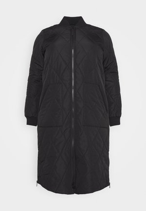 CARCARROT LONG QUILTED JACKET - Mantel - black