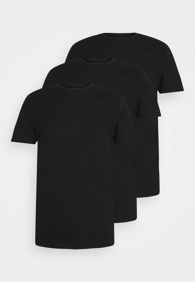 3 PACK - T-shirts - black