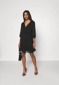 JDY - JDYEMILIA WRAP DRESS - Day dress - black - 1