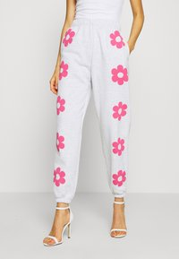 NEW girl ORDER - FLOWER POWER  - Pantalones deportivos - grey - 0