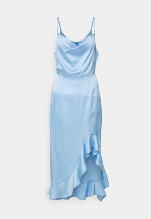 CAMI RUFFLE SIDE MIDI  - Cocktailkjoler / festkjoler - powder blue