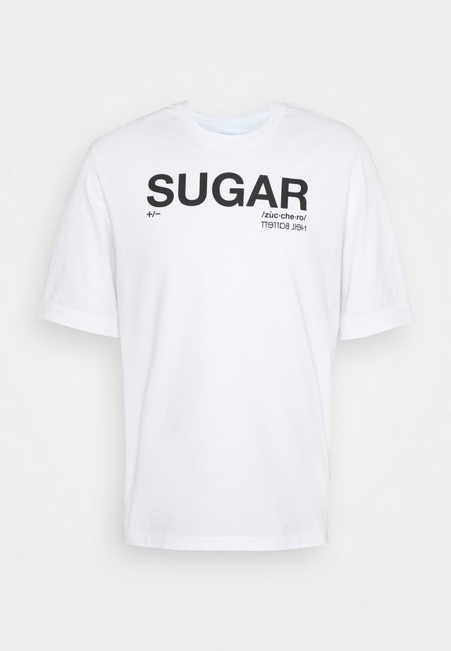 SUGAR  - T-shirt con stampa - white/black