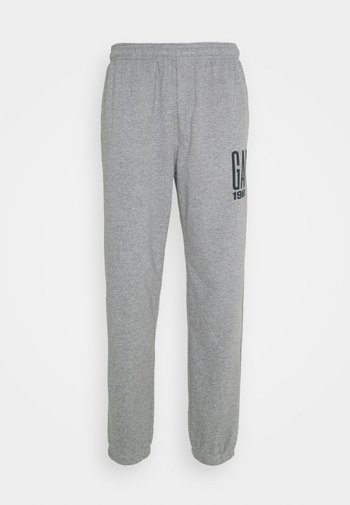 LOGO - Tracksuit bottoms - heather grey