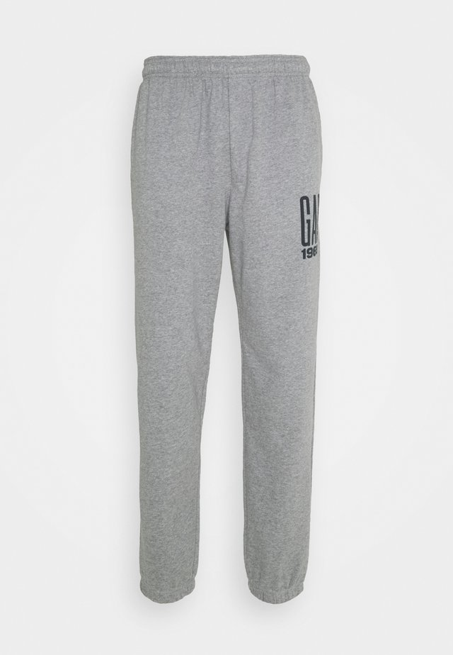LOGO - Tracksuit bottoms - heather grey