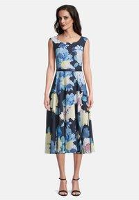 Vera Mont - MIT PRINT - Day dress - dark blue/yellow - 0