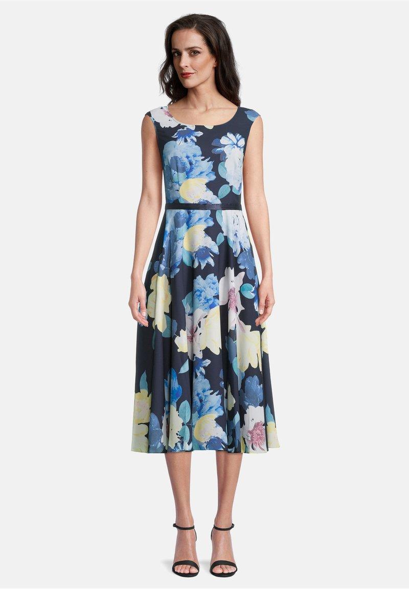 Vera Mont - MIT PRINT - Day dress - dark blue/yellow