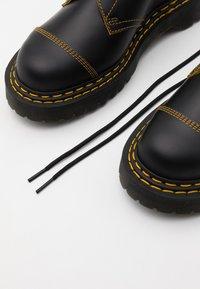 Dr. Martens - 1461 BEX UNISEX - Šněrovací boty - black/yellow/smooth slice - 5