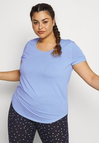 Cotton On Body - CURVE GYM - T-shirt basic - sky blue - 0