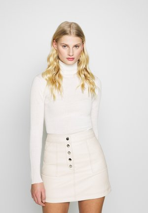 SLFCOSTA ROLLNECK - Sweter - snow white