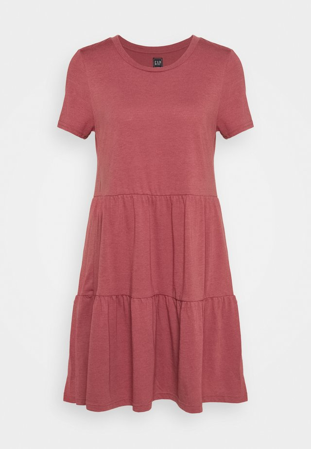TIERED - Jersey dress - cosmetic pink