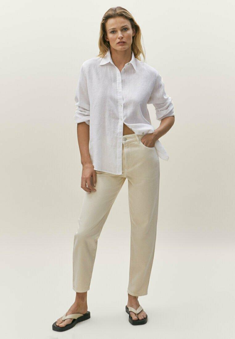 Massimo Dutti - Straight leg jeans - beige