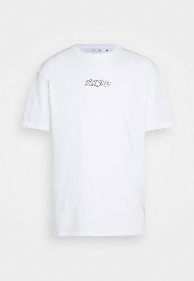 TOKYO TEE - T-shirt med print - white