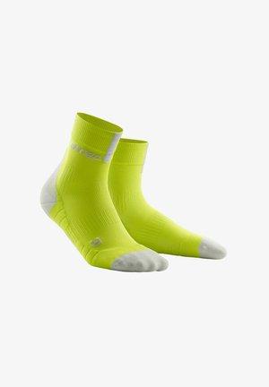 Sports socks - lime/light grey
