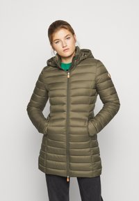 Save the duck - GIGAY - Winter coat - bark green - 0