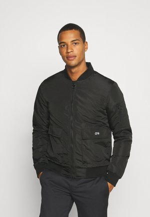BASEBALL JACKET - Bomber bunda - black