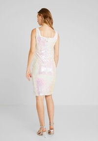 Rare London - SEQUIN DRESS - Vestido de tubo - white - 3