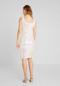 Rare London - SEQUIN DRESS - Tubino - white - 3