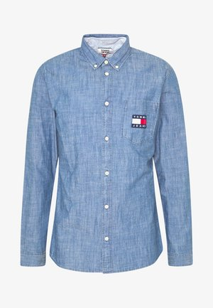 TJM CHAMBRAY BADGE SHIRT - Shirt - mid indigo