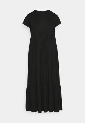 TIERED SMOCK MIDAXI DRESS - Maksimekko - black
