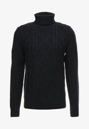 Jumper - mottled dark blue