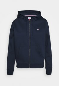 Tommy Jeans - REGULAR HOODIE ZIP THROUGH - Zip-up hoodie - twilight navy - 4