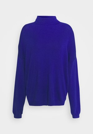 SOFT TURTLE NECK - Jumper - blue