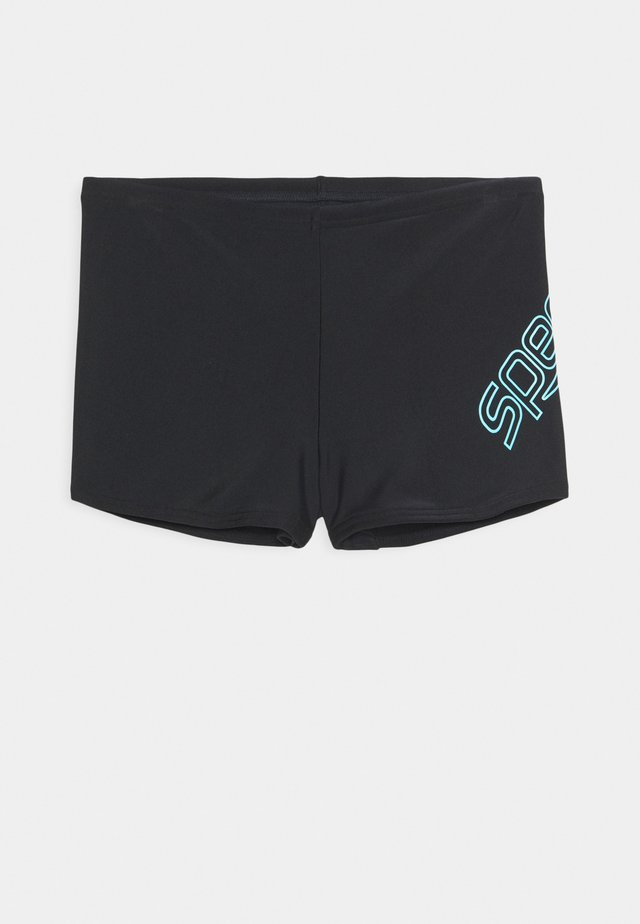 BOOM LOGO PLACEMENT AQUASHORT - Swimming trunks - black/light adriatic