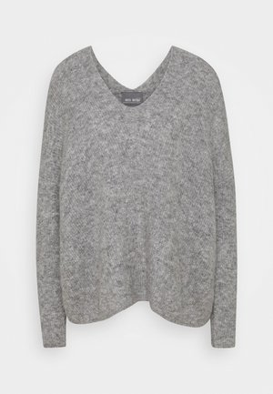 THORA V NECK - Jumper - grey melange