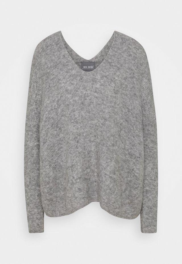 THORA V NECK - Pullover - grey melange