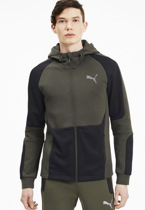 EVOSTRIPE HOODIE - Sweatjacke - forest night