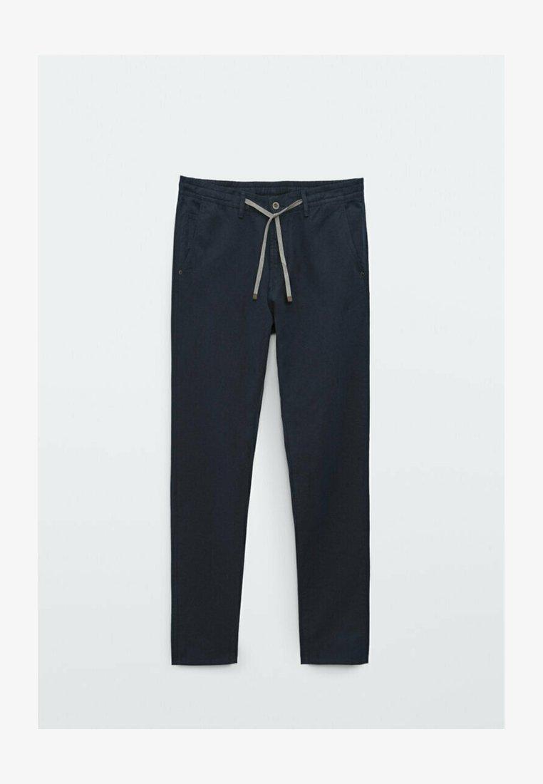 Massimo Dutti - IM VINTAGELOOK  - Trousers - dark blue
