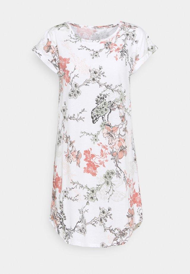 NIGHT DRESS BIG T AMANDA - Nattlinne - off white