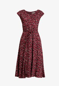 Dorothy Perkins - VNECK SHORT SLEEVE MIDI FIT AND FLARE DRESS - Day dress - red - 5