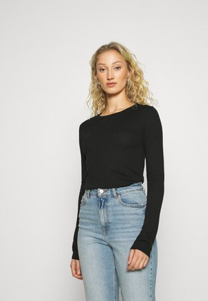 BASIC- SOFT CREW NECK JUMPER - Strikkegenser - black