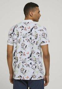 TOM TAILOR DENIM - Polo shirt - white abstract flower print - 2