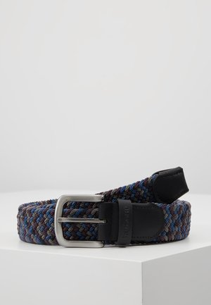 TARTAN BELT GIFT BOX - Belt - dark blue/brown