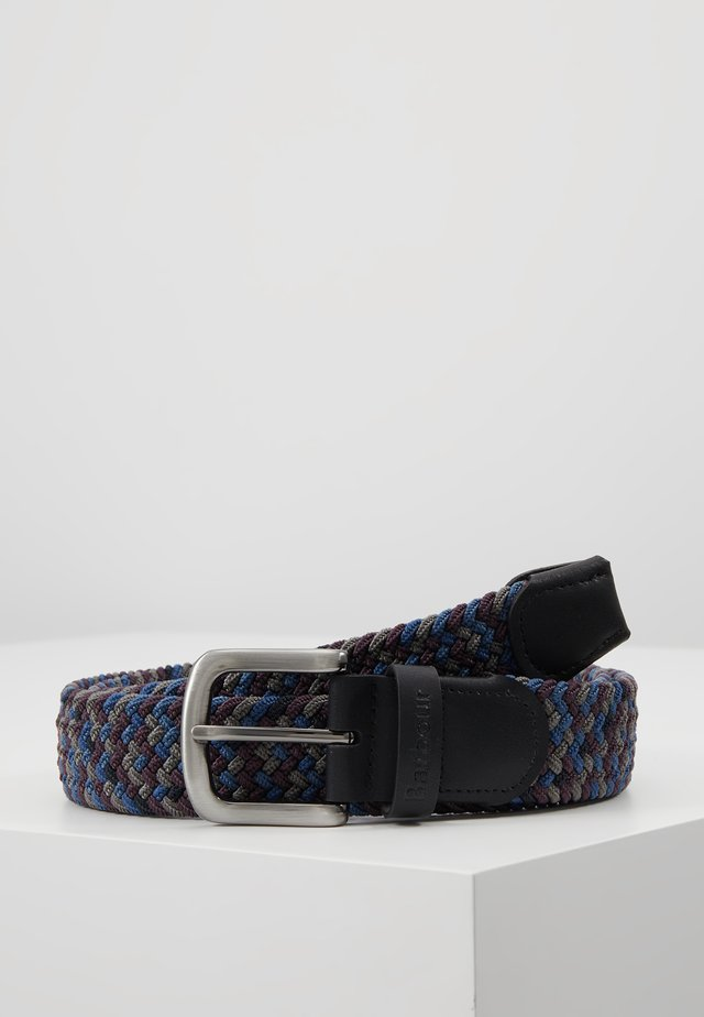 TARTAN BELT GIFT BOX - Gürtel - dark blue/brown