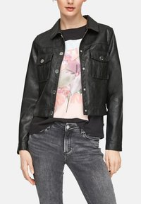 QS by s.Oliver - Faux leather jacket - black - 3