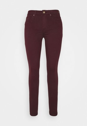 COMO SKINNY  - Trousers - deep burgundy