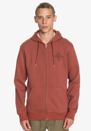 BEFORE LIGHT - Zip-up hoodie - henna