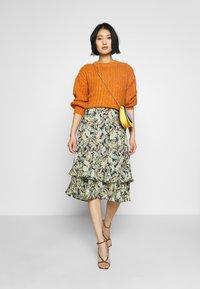 Barbara Lebek - Day dress - denim blue/ lemon/ orange - 2