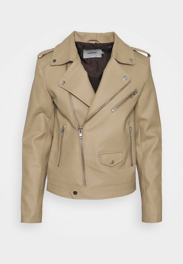 RIVER CACTUS  - Faux leather jacket - beige
