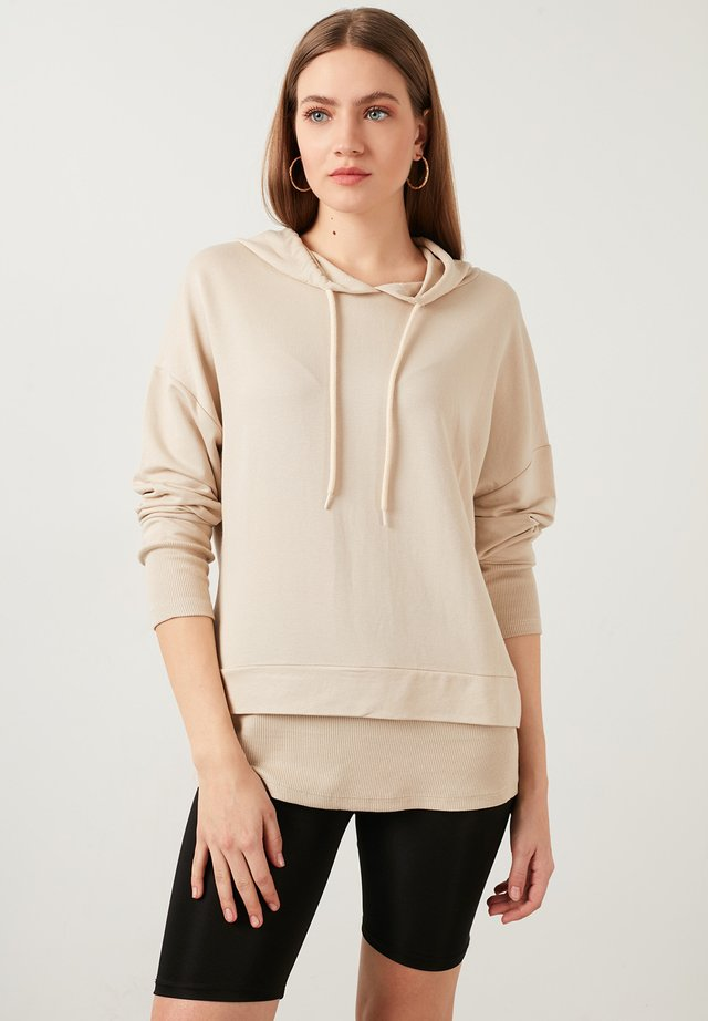 Hoodie - stone colored