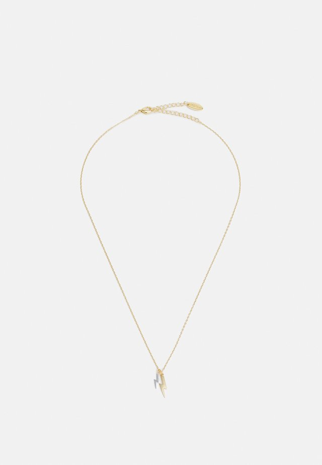 DOUBLE LIGHTNING DITSY NECKLACE - Ketting - pale gold-coloured